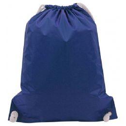 48 Bulk White Drawstring BackpacK-Royal