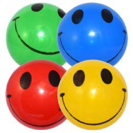 48 Bulk Dodge Ball 9in Happy Face