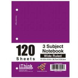 48 Bulk Spiral Notebook 3 Subject Wide Rule