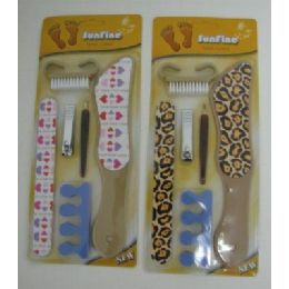 144 Bulk 6pc Printed Pedicure Set