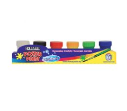 72 Bulk Bazic 6 Color Poster Paint With Brush