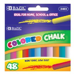 144 Bulk Bazic Assorted Color Chalk (48/box)