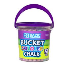 72 Bulk Bazic Assorted Color Chalk (50/bucket)