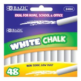 72 Bulk Bazic White Chalk (48/box)