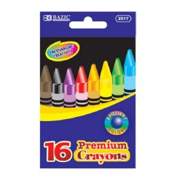 144 Bulk Bazic 16 Color Crayon