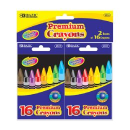 72 Bulk Bazic 16 Color Crayon (2/pack)