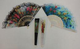 40 Bulk Folding Fan With Lace