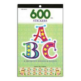 72 Bulk Alphabetical Series Assorted Sticker (600/pack)