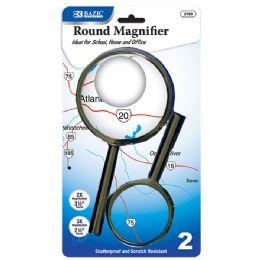 "48 Bulk Bazic 3.5"" & 2.5"" Round Handheld Magnifier Sets (2/pack)"