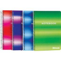 """72 Bulk Bazic 120 Ct. 5"""" X 7"""" Personal / Assignment Spiral Notebook"""