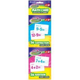 72 Bulk Bazic 36 Ct. Addition & Subtraction Mini Flash Card (2/pack)