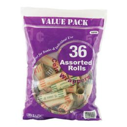 50 Bulk Bazic Assorted Size Coin Wrappers (36/pack)