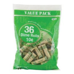 50 Bulk Bazic Dime Coin Wrappers (36/pack)