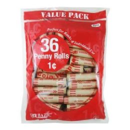 50 Bulk Bazic Penny Coin Wrappers (36/pack)