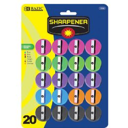 144 Bulk Bazic Round Pencil Sharpener (20/pack)