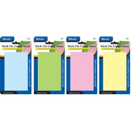 "144 Bulk Bazic 70 Ct. 3"" X 5"" Lined Stick On Notes"