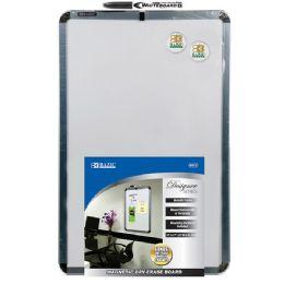 "24 Bulk Bazic 11"" X 17"" Magnetic Dry Erase Board W/ Marker & 2 Magnets"
