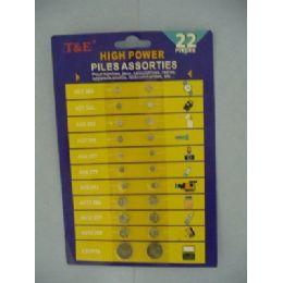 60 Bulk 22pc Assorted Button Cell Batteries