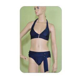72 Bulk 2 Piece Solid Swimsuit Set