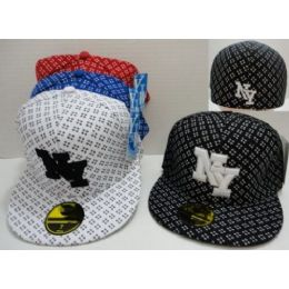 72 Bulk Fitted Ny Hat [crosshairs]