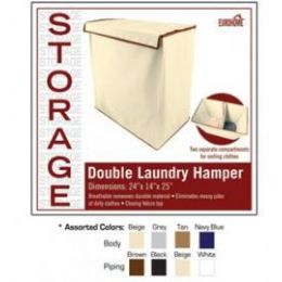 8 Bulk Double Laundry Hamper 4 Assorted Colors
