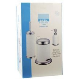 4 Bulk 3 Piece Stainless Steel Bathroom Set