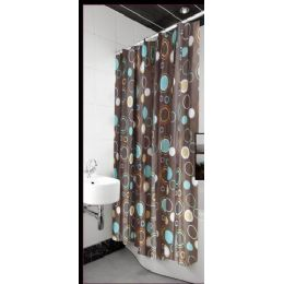 12 Bulk Polyester Deluxe Shower Curtain 72x72