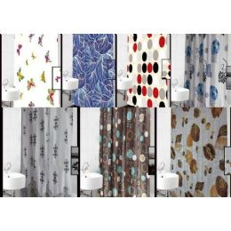 72 Bulk Polyester Deluxe Shower Curtain 72x72