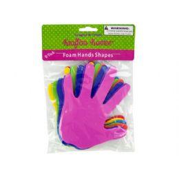 72 Bulk Foam Craft Hand Shapes 8 Pack