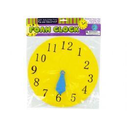 72 Bulk Foam Toy Clock