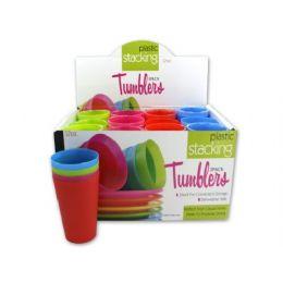 72 Bulk Plastic Stacking Tumblers