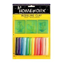 48 Bulk Modeling Clay And Molds Set 12 Assorted Clay Sticks