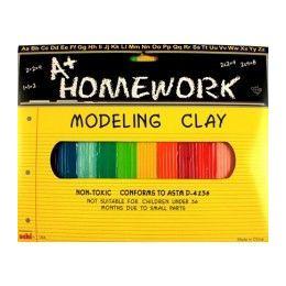 48 Bulk Multi Color Modeling Clay 12 Pack