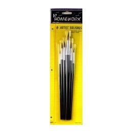 48 Bulk Paint Brushes - 6 Ct. Asst.sizes - Carded