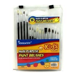 96 Bulk Paint Brushes - 15 Count - Assorted Sizes