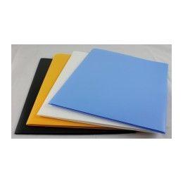 "100 Bulk Two Pocket Folders -Plastic -8.5""x11"" Size PapeR-Asstd Colors."