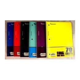 "48 Bulk Wire Notebook - 70 Sh - 10.5"" X 8"" - Wr - 1 Subject"