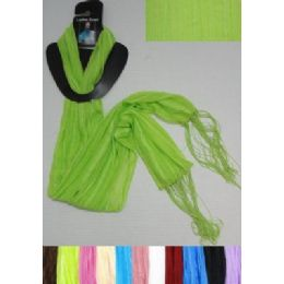 72 Bulk Sheer Scarf With FringE-Pinstripes
