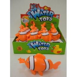 72 Bulk Clown Fish Water Toy With Display Box