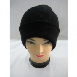 144 Bulk Thick Black Winter Hat