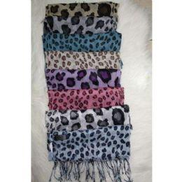 72 Bulk Leopard Print Scarf