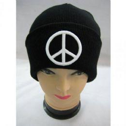 72 Bulk Peace Sighn Winter Hat