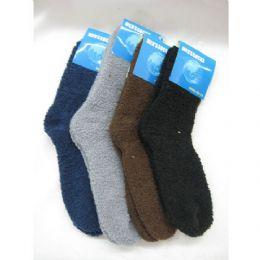 144 Bulk Mens Fuzzy Socks Size 10-13