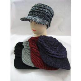 48 Bulk Ladies Croche Like Winter Hat