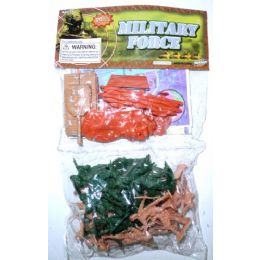 72 Bulk Plastic Army Soldiers And Tank