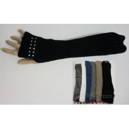 36 Bulk Arm WarmeR--Rhinestones On Hand