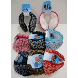 72 Bulk Earmuffs With Fur InsidE--Printed