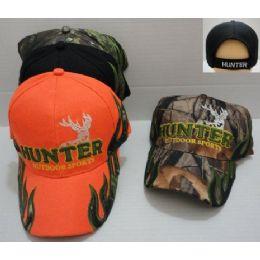 72 Bulk HunteR-Outdoor Sports Camo Hat