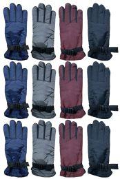 24 Bulk Yacht & Smith Women's Winter Warm Waterproof Ski Gloves, One Size Fits All Bulk Pack