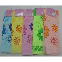 72 Bulk Printed Hand ToweL-Floral